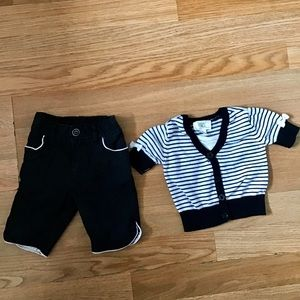 The Children's Place pants and cardigan set.